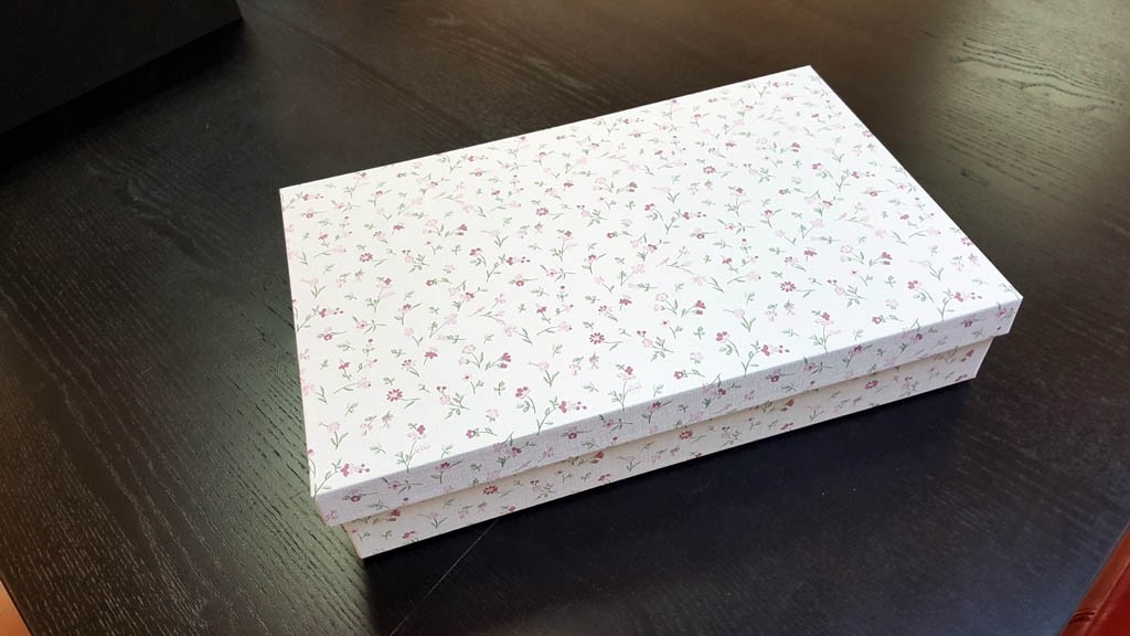 Cutie de lux pentru trusou botez fetite - 5