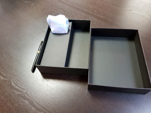 Cutie premium pentru set cadou cravata, batista si pin (model 6065-6068)