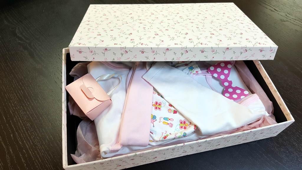 Cutie de lux pentru trusou botez fetite - 1