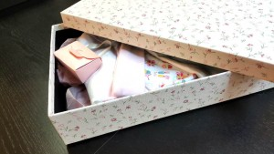 Cutie de lux pentru trusou botez fetite - 2