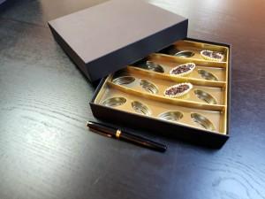 Cutie rigda cu capac pentru praline - 2 Cutie rigda cu capac pentru praline