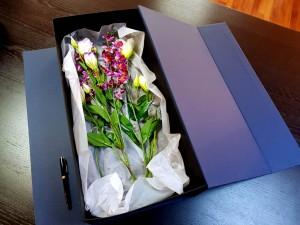 Cutie rigida de lux pentru flori - 11