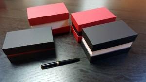 Cutii cu gat din carton rigid - 6 Cutii rigide cu gat (guler)